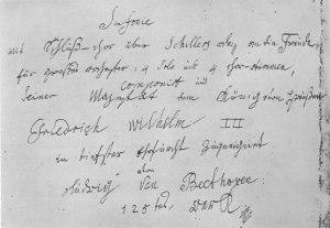Beethovens handschrift op de Negende
