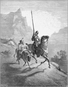 Don Quichot en Sancho Panza door Gustave Doré (1863)