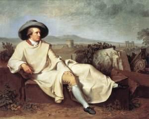 J.H.W. Tischbein: Goethe in de campagna