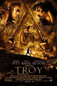 Filmposter Troy (2004) met Brad Pitt als Achilles en Eric Bana als Hektor