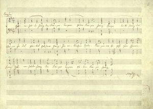 Handschrift van Haydns 'Kaiserhymne' (1797)