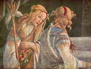 Detail uit Botticelli's Mozes-schilderij (foto Flickr)