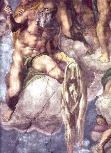 Zelfportret van Michelangelo als huid