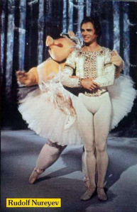 Nureyev en Miss Piggy