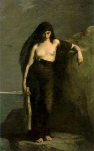Sapfo door Charles-Auguste Mengin (1877)
