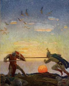 N.C. Wyeth: illustratie uit 'The Boys' King Arthur'(1922)