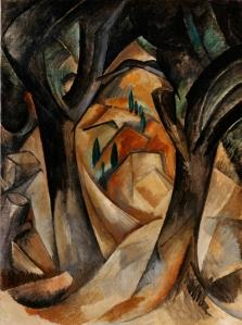 Braque: 'Bomen bij L'Estaque' (1908), uit de collectie Lauder