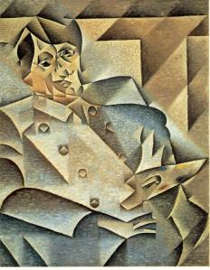 Juan Gris: 'Portret van Picasso' (1910)