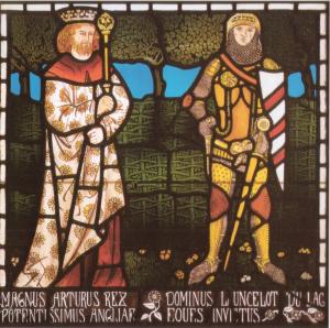 William Morris: 'King Arthur and Sir Lancelot' (1862)