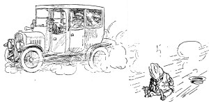 Illustratie van E.H. Shepard uit 'The Wind in the Willows'
