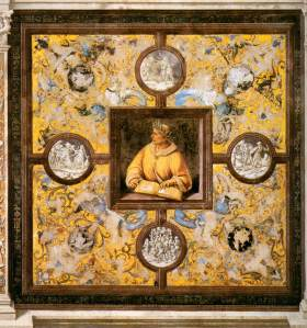 Ovidius tussen de Metamorphosen (door Luca Signorelli)