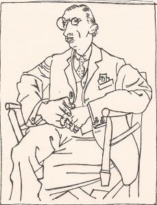 Stravinsky getekend door Picasso
