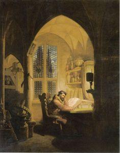 Georg Friedrich Kersting: 'Faust im Studierzimmer' (1829)