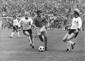 Johan Cruijff in de finalewedstrijd WK 1974 tegen West-Duitsland