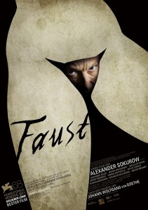 Poster van de Faustfilm van Aleksandr Sokoerov (2012)
