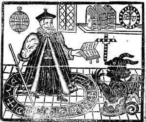 Illustratie op het titelblad van Marlowes 'Doctor Faustus'