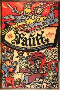 Filmposter voor 'Faust' van Murnau