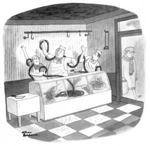 De Laokoönvariatie van Charles Addams