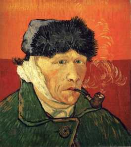 Zelfportret met verbonden oor en pijp (1889, privécollectie)