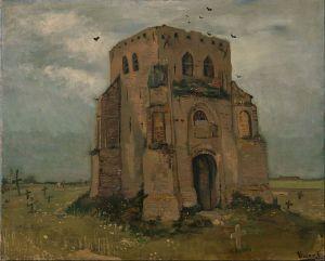 De oude kerktoren in Nuenen (1885, Google Art Project/Van Gogh Museum)