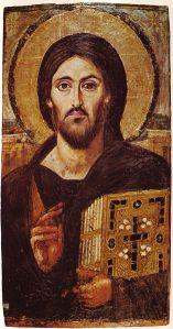 Icoon van Christus Pantocrator uit het Sint-Catharinaklooster uit de Sinaï (6de eeuw)