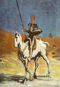 Don Quichot door Honoré Daumier