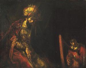 Rembrandt 'David en Saul' (ca 1660)