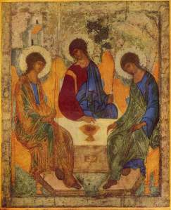 De Heilige Drieëenheid door Andrej Roebljov