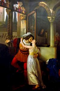 Francesco Hayez: 'De laatste zoen van Romeo en Julia' (1823)