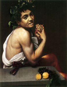 Caravaggio: 'Zelfportret als de jonge Bacchus ' (foto WC)