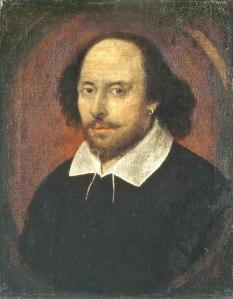 Portret van Shakespeare uit de collectie Chandos (1610)