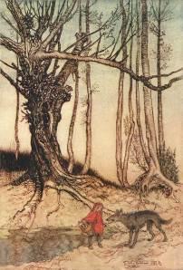 Roodkapje door Arthur Rackham
