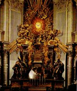 Bernini's Cathedra in de Sint-Pieter