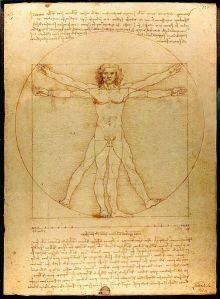 Leonardo's 'Vitruviusman' (foto Luc Viatour / WC)