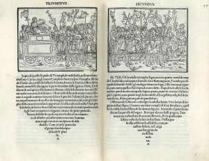 Twee bladzijden uit de 'Hypnerotomachia Poliphili'