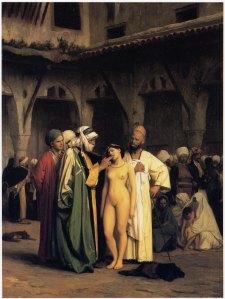 Gérome: 'Le marché des esclaves' (1866)