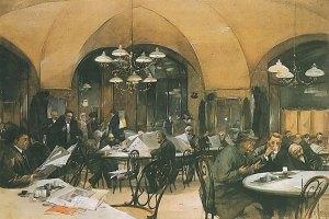 Wenen: Cafe Griensteidl, 1896