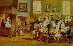 Een Londens koffiehuis in de 17de eeuw