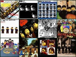 The Beatles in LEGO - two cultural icons in one image