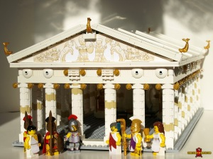 The Parthenon in LEGO (made by Justin R. Stebbins)