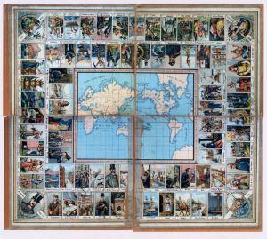 Bordspel n.a.v. De reis om de wereld in 80 dagen, 1876