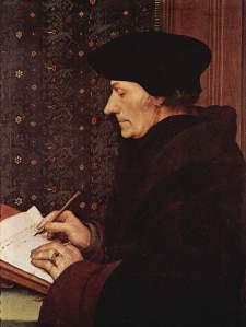 Erasmus door Holbein