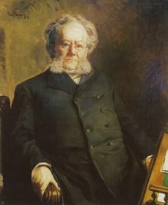 Portret van Ibsen (1895) door Eilif Peterssen