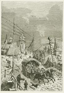 Gravure uit Michael Strogoff, rond 1900