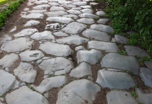 Romeinse weg in Ostia Antica