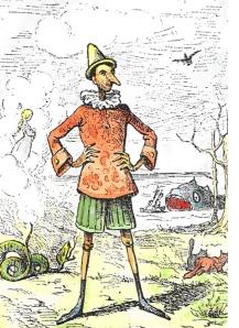 Illustratie van Enrico Mazzanti bij de eerste Italiaanse uitgave