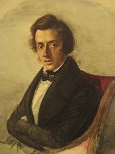 Chopin op 25-jarige leeftijd, door zijn vriendin Maria Wodzinska