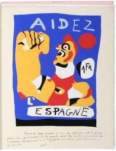 Miró: Aidez l'Espagne, poster