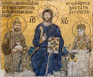 Mozaïek van keizerin Zoë en keizer Constantijn IX in de Hagia Sofia (foto WC)