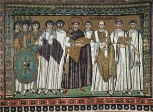 Maximiliaanmozaïek in de San Vitale (6de eeuw, foto WC)